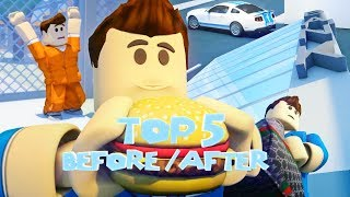Top 5 Before and After Jailbreak - Funny Roblox Animations