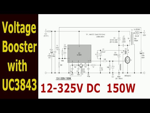 12-325V Inverter Power Supply with UC3843 - YouTube