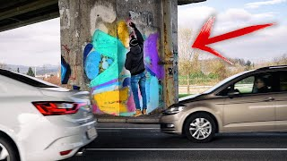 Paint GRAFFITI on HIGHWAY She said.