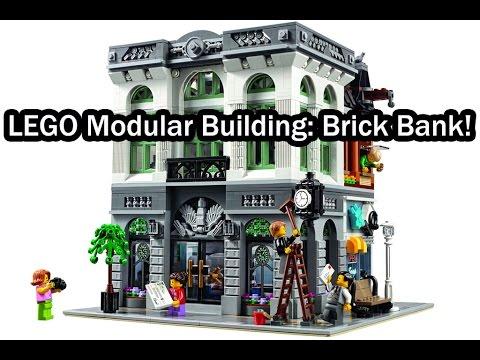 Lego Modular Building 2016 Brick Bank Creator Expert 10251 Youtube