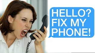 "r/Talesfromtechsupport ""HELLO? FIX MY PHONE!"" ""Ma'am... You're On the Phone..."""