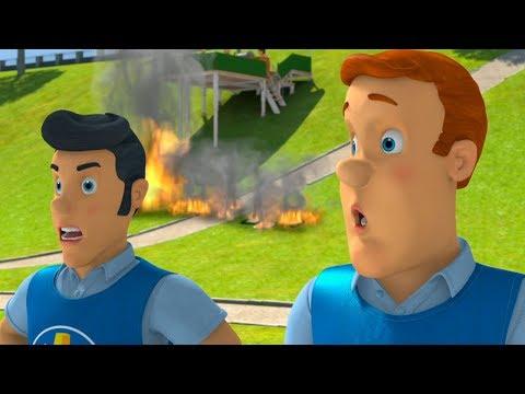 Download Youtube: Fireman Sam New Episodes | Fireman Sam put out the great fire! - Risky Saves 🚒 🔥 Kids cartoon