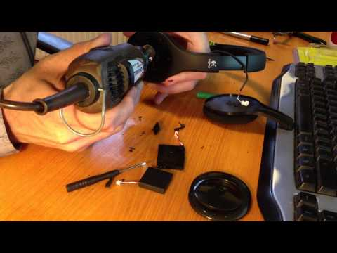 Logitech H800 Battery Modification - YouTube