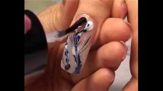 Урок наращивание ногтей на формы, дизайн - роспись гжель (eveya.ru)