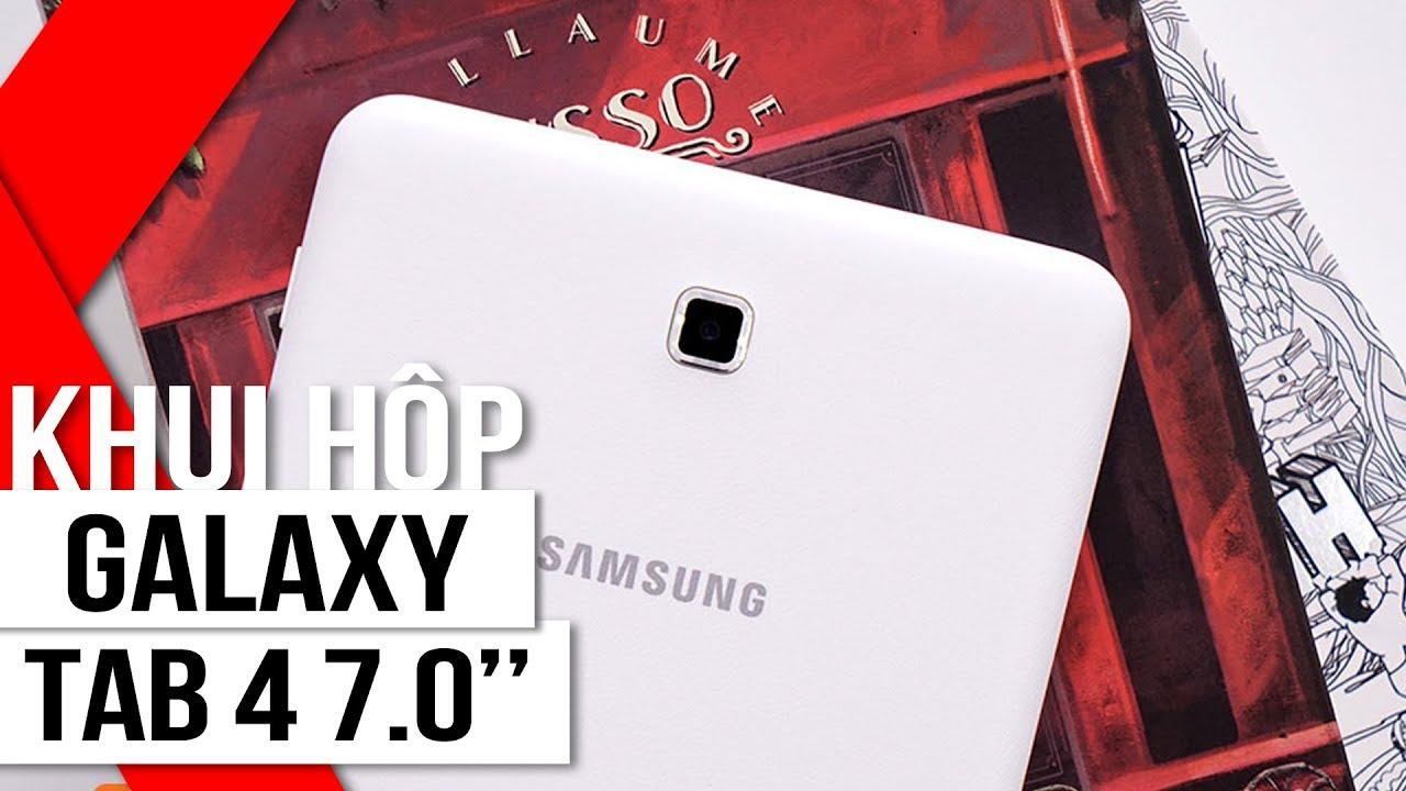 """FPT Shop – Khui hộp Samsung Tab 4 7.0"""": Giá hấp dẫn, cấu hình mạnh mẽ"""