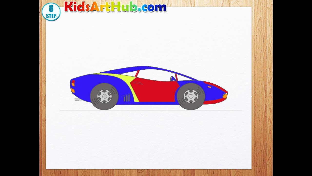 How To Draw Racing Car Youtube