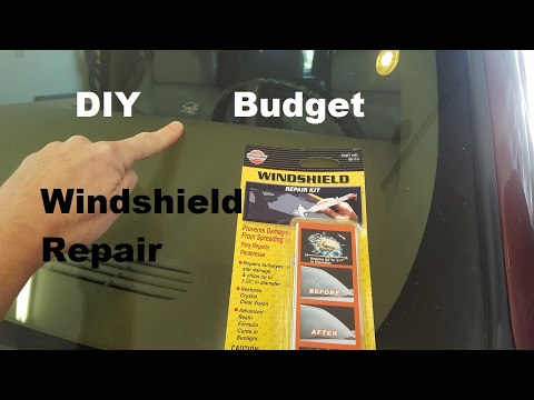 Budget Windshield Repair DIY