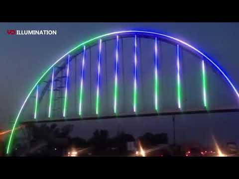 YD waterproof point light source used in Iraq government bridge lighting