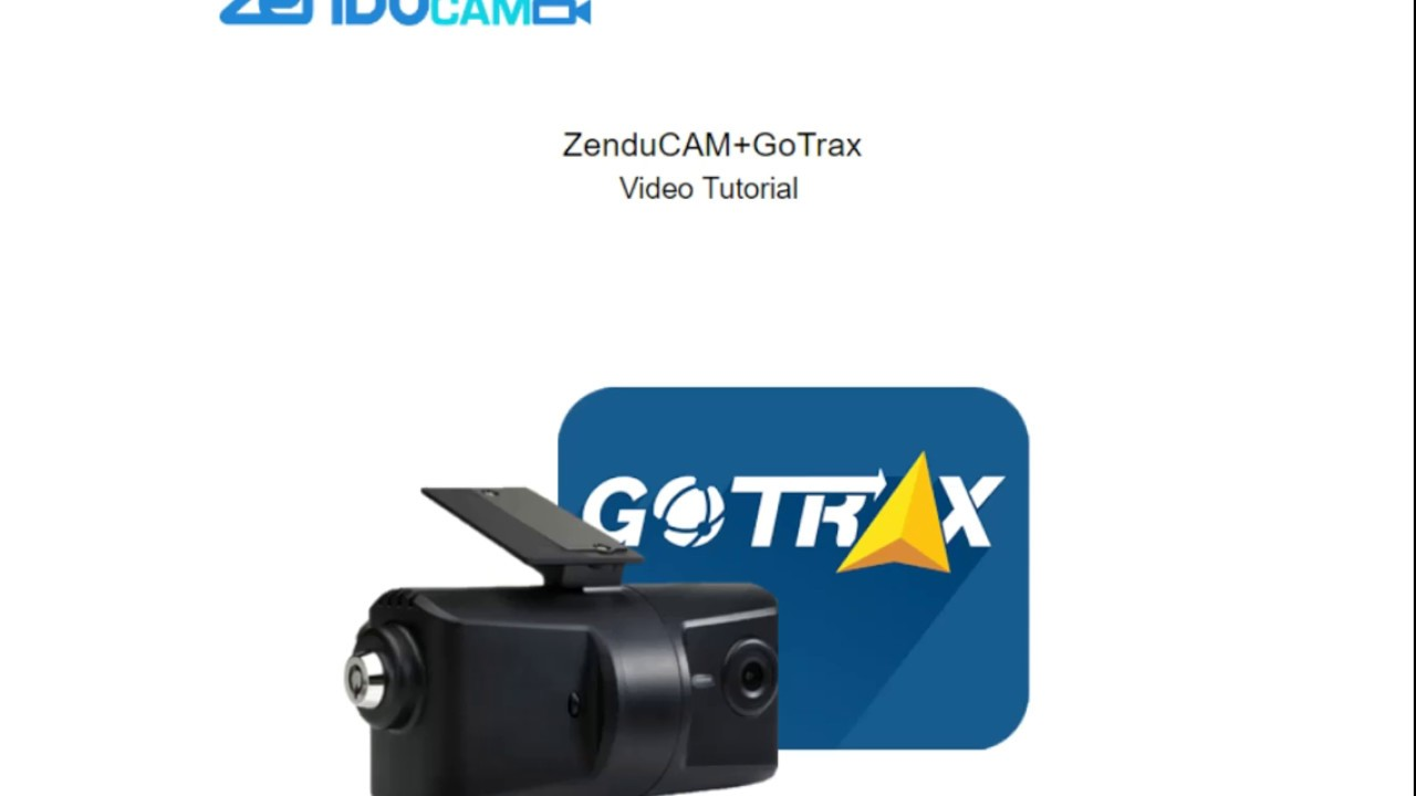 ZenduCAM GoTrax Tutorial