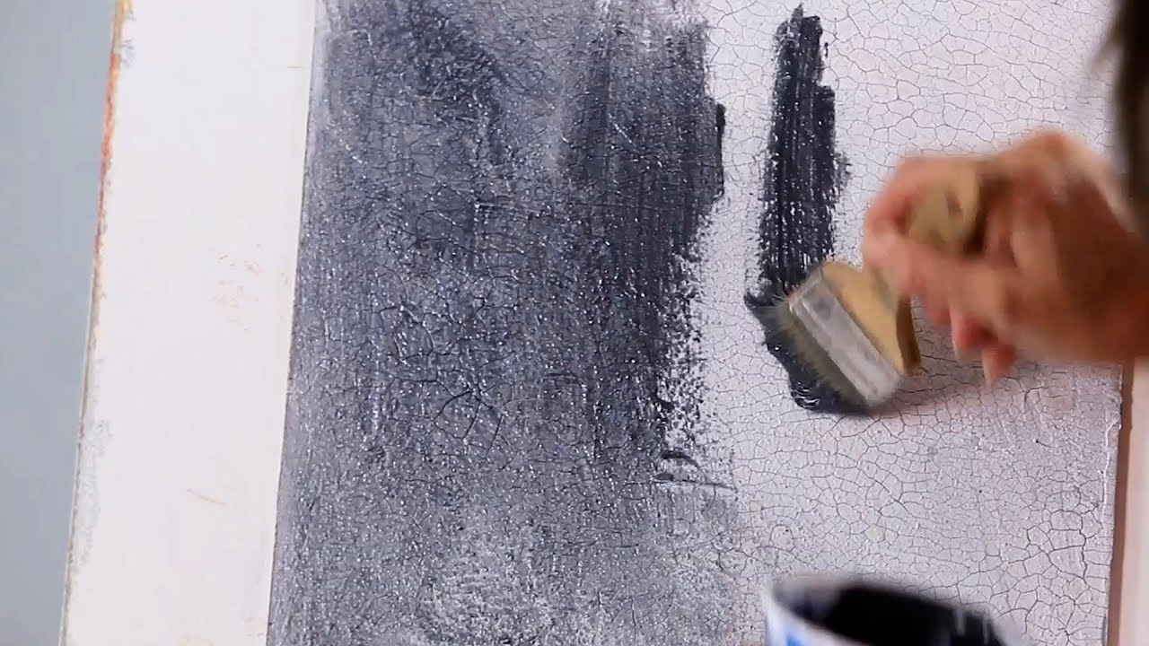 How to Finish Crackle Painting a Wall | Paint Techniques ...