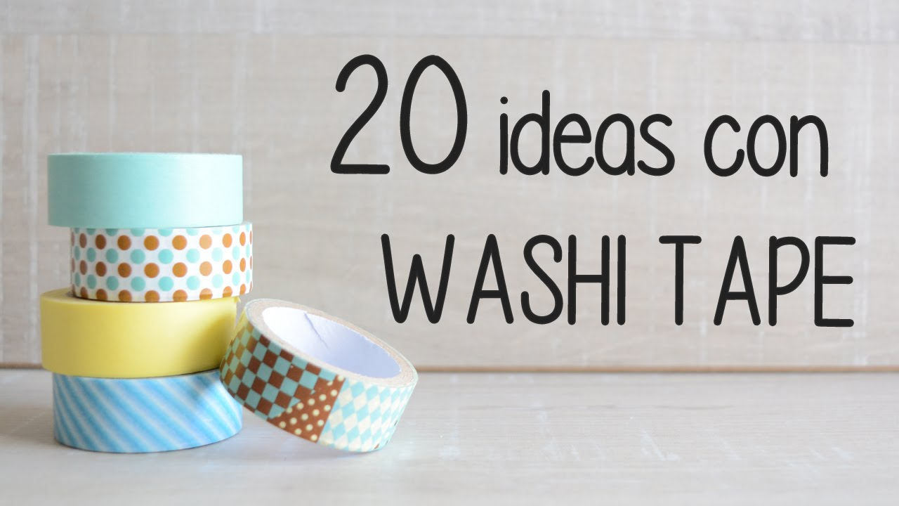 ideas con washi tape youtube