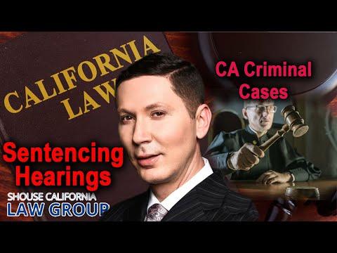 Sentencing hearings in CA criminal cases