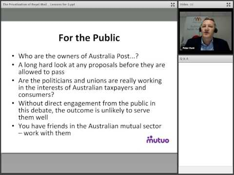 The Privatisation of Royal Mail – Lessons for Australia Post