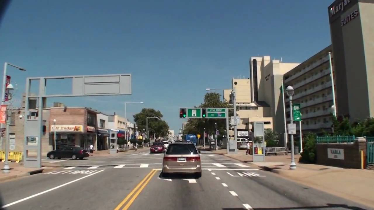 Virtual Tour Of Virginia Beach Atlantic Avenue From St To Th Streets Vabeach Com Youtube