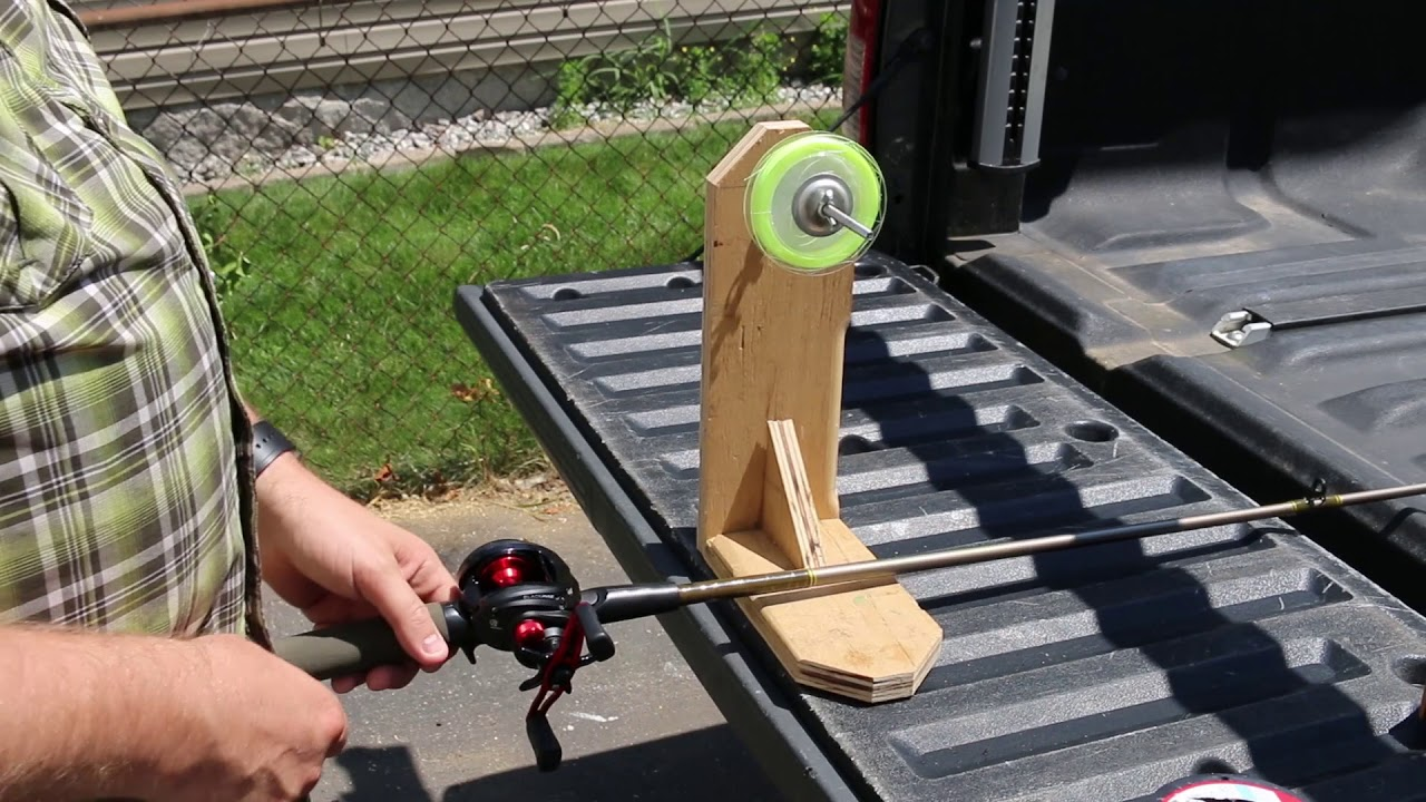 How To: DIY Fishing Line Spooler Under $10 - YouTube