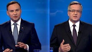 Debata prezydencka: Komorowski atakuje Dudę ws. SKOK-ów