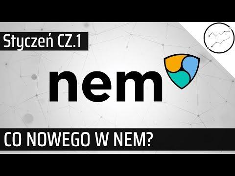 Kryptowaluta XEM - co nowego w styczniu? Rozmowa z Bartłomiejem Sanakiem z NEM #cz1