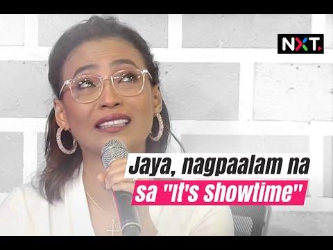 Jaya, nagpaalam na sa 'It's Showtime'   NXT