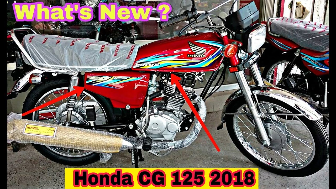 honda cg 125 2018 new model review (full specifications/features