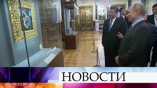 Владимир Путин лично провел экскурсию по Петербургу для Си Цзиньпина.