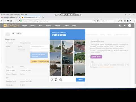 Rockstar - Kako promeniti email adresu