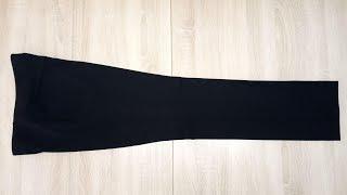 Обработка низа и окончательная утюжка брюк