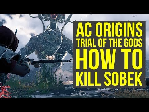 Assassin's Creed Origins Trial of Sobek - HOW TO DEFEAT SOBEK (AC Origins Trial of Sobek)