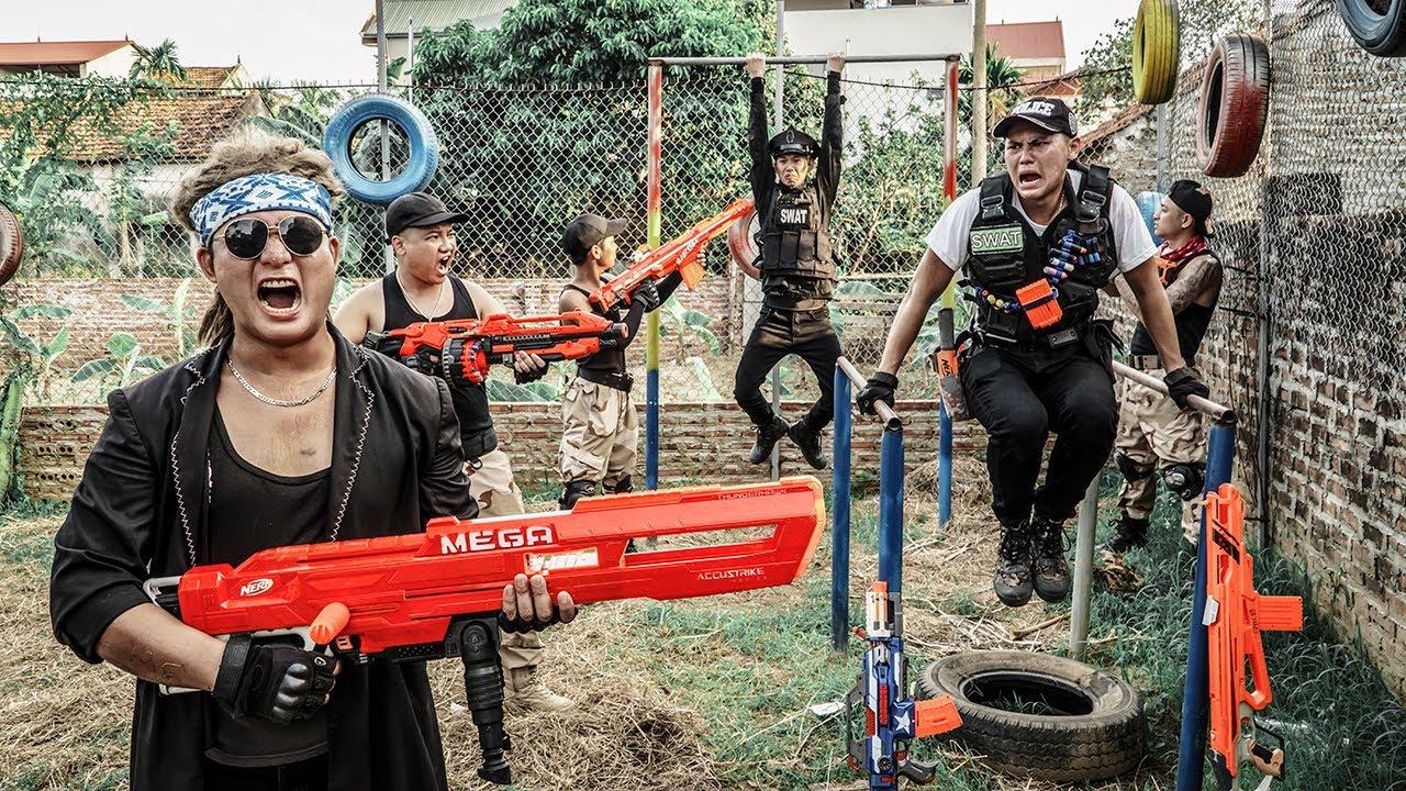 LTT Game Nerf War : Warriors SEAL X Nerf Guns Criminal Group Rocket Crazy Lone Battle