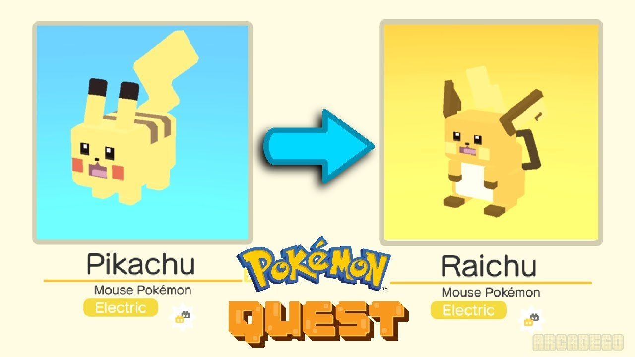 how to evolve in pokemon quest