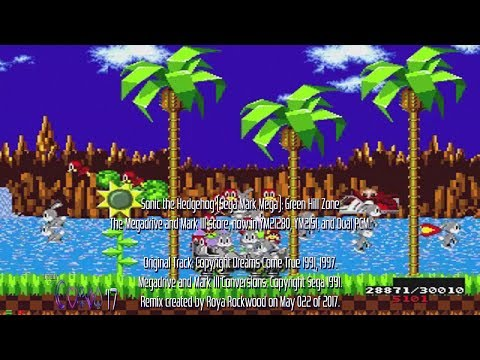 Sonic the Hedgehog (Sega Mark Mega) Green Hill Zone (YM2I280, YM2I5I, Dual PCM) |