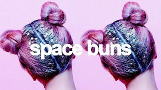 Tumblr Inspired GLITTER SPACE BUNS HALLOWEEN Hair Tutorial