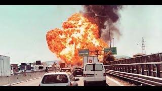 Italien: LKW explodiert auf Autobahn