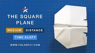 Fold 'N Fly ✈ The Square Paper Airplane