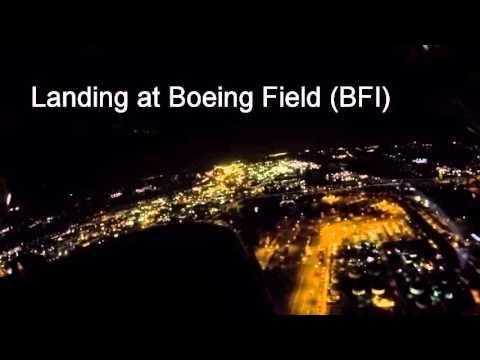 Night Landings at Oak Harbor and Seattle (Boeing Field), WA