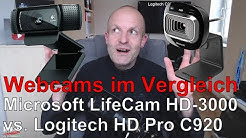 Webcam-Vergleich: Microsoft LifeCam HD 3000 vs. Logitech HD Proc C920 😎