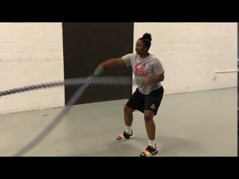 Battle Ropes Waves video KCWB Phase 3 Conditioning