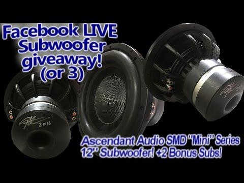 "Live Subwoofer Giveaway (or 3) - SMD ""Mini"" Series 12"" +2 Bonus Subs! Arden Audio Sacramento Ca"