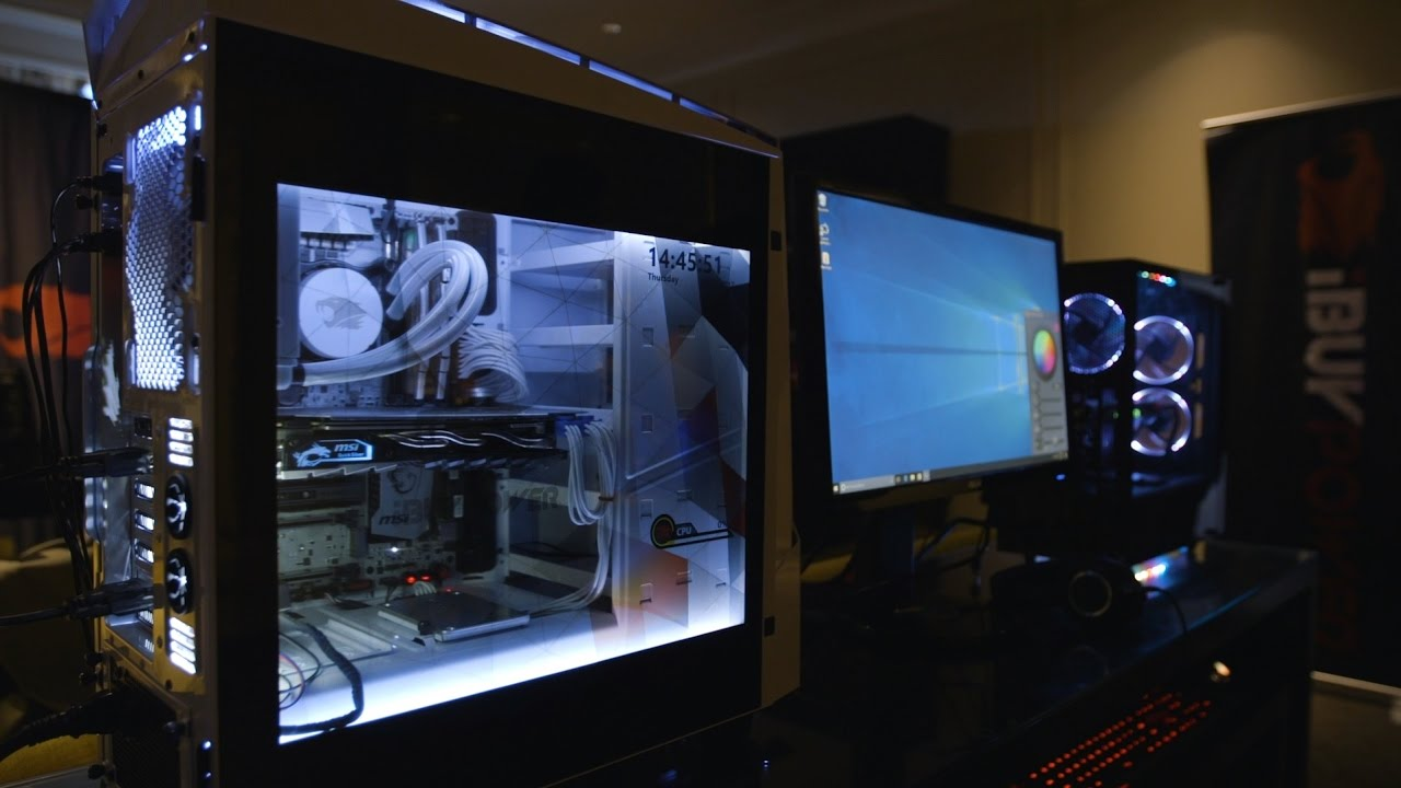 A programmable seethrough screen for your case iBUYPOWER