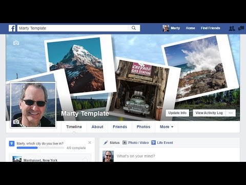 Photoshop Tutorial: Create a Facebook Cover Photo Montage with a Seamless Profile Photo