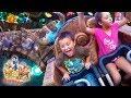 FUNnel V Fam Kids ride SEVEN DWARFS MINE TRAIN in Disney World!2014 Magic Kingdom Family Trip