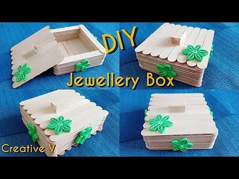 How to make jewellery box with ice cream sticks step by