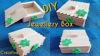 How to Make jewellry box / popsicle stick crafts / DIY