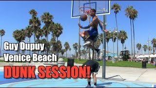 Guy Dupuy DUNK Session @ Venice Beach! CRAZY Dunks! Video