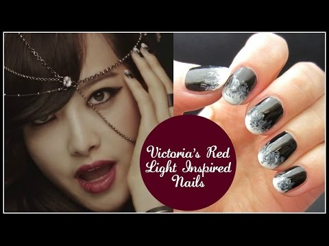 Kpop Nail Art F X Victoria Red Light Inspired Nails
