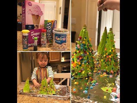 Edible Toddler Christmas Trees