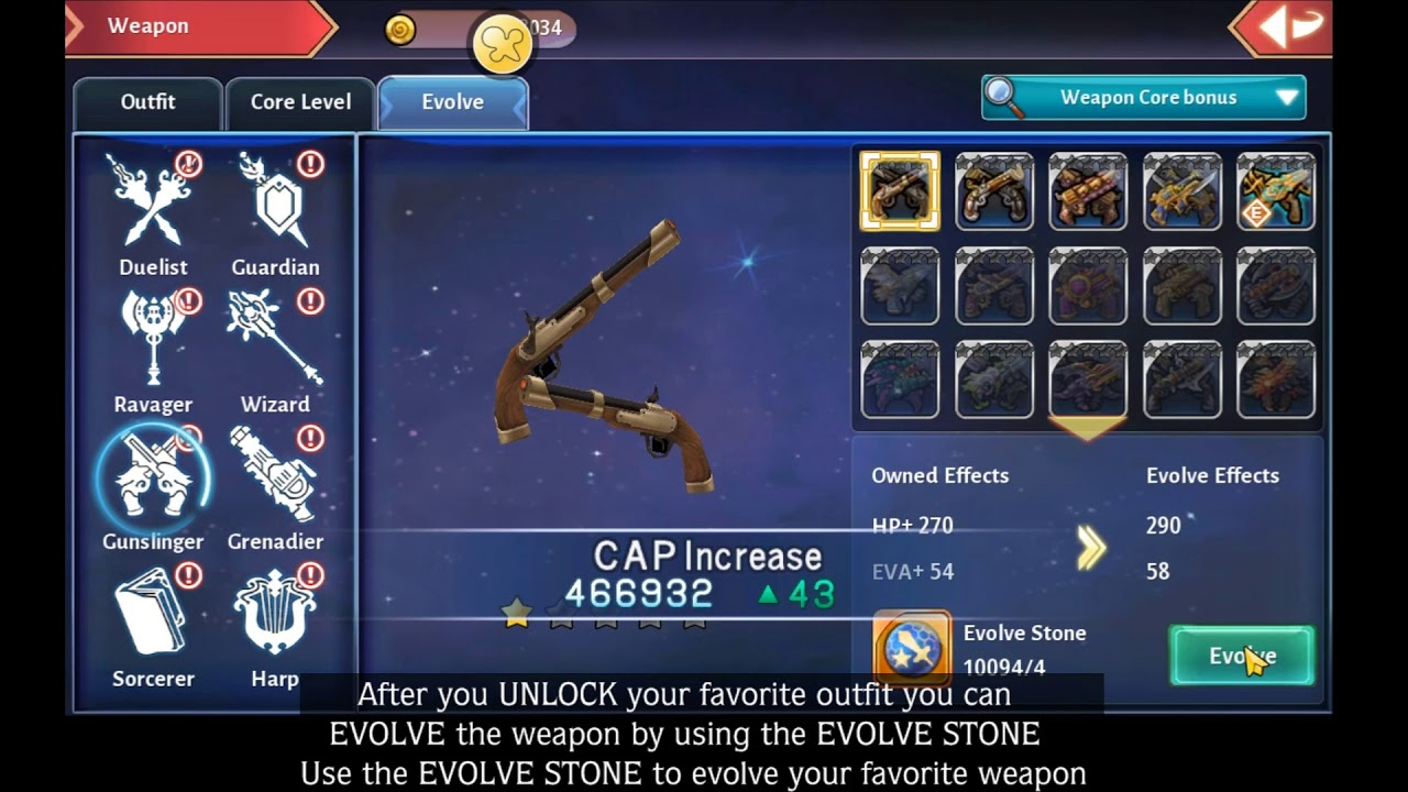 Aura Kingdom Mobile - Weapon Core System