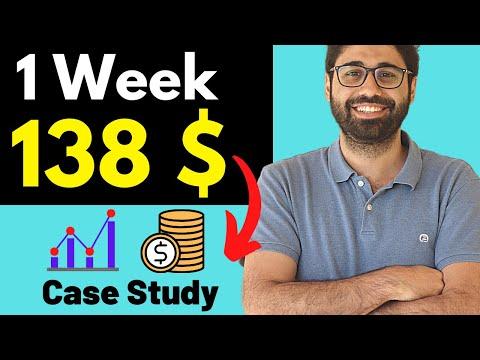Earn 138$ in 1 Week - Affiliate Marketing Case Study For Beginners