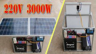 Chế Máy Phát Điện Năng Lượng Mặt Trời Lưu Động 3000W
