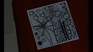 Учусь рисовать Zenart зенарт узоры танглы