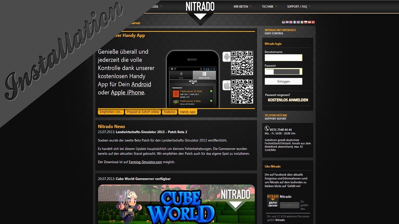 Minecraft Server über Nitradonet Wie Man Dateien Hoch Lädt Und - Nitrado minecraft server whitelist erstellen